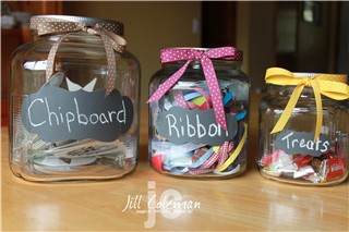 Curly Chalkboard Label Jars