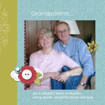 Grandparents Day 2011 Scrapbook Page