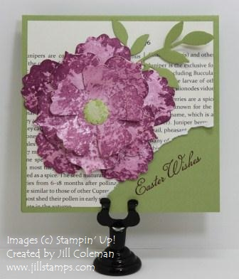 Fun Flowers Die Faux Mother Of Pearl Card