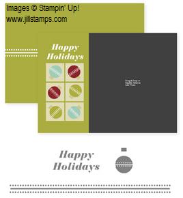 Ornamental Holidays Photocard Template