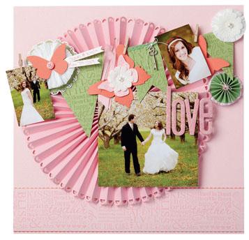 Valentine Love Scrapbook Page