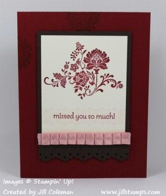 Fresh Vintage Missed You Card