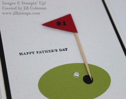 Stampin' Up! Punch Art Golf Card Close Up